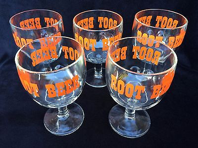 Heavy Glass Root Beer Goblets Set Of 5 Great For A&w Barqs Hiresfrostie Soda