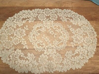 8 Beautiful Vintage French Alencon Lace Placemats...lqqk!