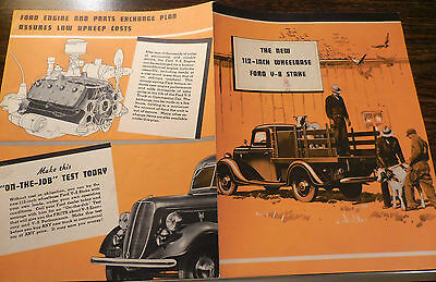 1937 FORD New 112-Inch Wheelbase Ford V-8 Stake Deluxe brochure Excellent RARE