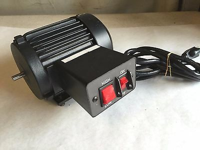 """2 Speed 890 / 1790 RPM Electric Motor With Switch Box 120 Volt 3/8"""" Dia. Shaft"""