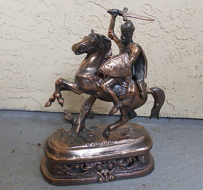 Table top COPPER Figurine of Richard Lion heart