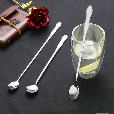 26/32CM Cocktail Bar Spoon Stainless Steel Twisted Mixing Stir Spoon Bar Tool