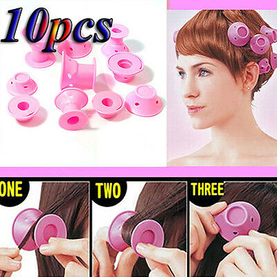 Professional 10Pcs Soft Hair Diy Roll Style Roller Hair Curler Tool Set Ample