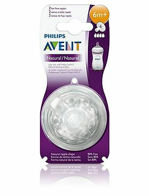 Philips Avent BPA Free Natural Fast Flow Nipples 2 Count