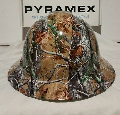 Pyramex Wide Brim Hard Hat custom Hydro Dipped REALTREE Camo Pattern