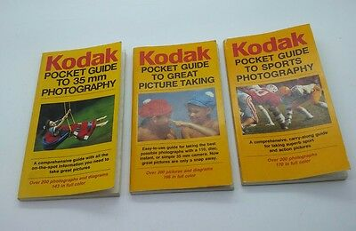 Kodak Pocket Guide 3 books to 35mm film photo/Great Picture taking/Sports photo