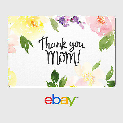 eBay Digital Gift Card - Happy Mother's Day Thank you Mom - Email Delivery