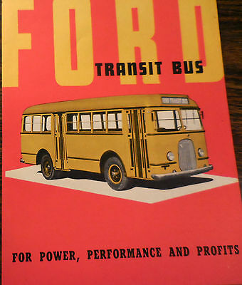 1937 FORD Transit Bus brochure catalog Mint condition RARE