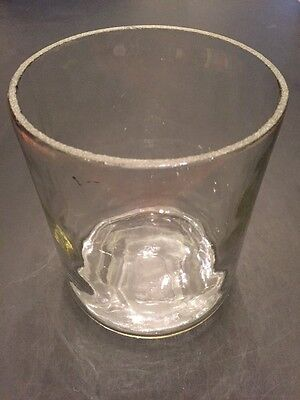 "Antique Glass Battery Jar Unknown Manufacturer JAR ONLY 4"" X 5 1/4"" Old"