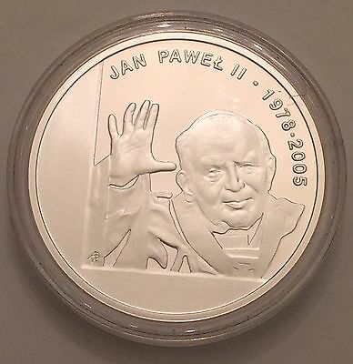 Pope John Paul II COIN Jan Pawel 1978-2005 Dove UNC Ag295 Token Commemorative