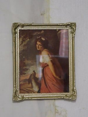 ANTIQUE CIRCA 1930's ORIGINAL PRINT IN ORNATE GLASS GILT FRAMED