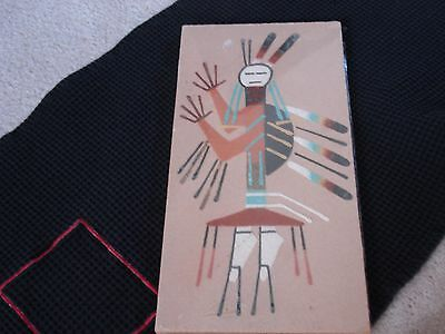 """Native American Sand Painting """"Camel Gof"""" by Tom Yazzee"""