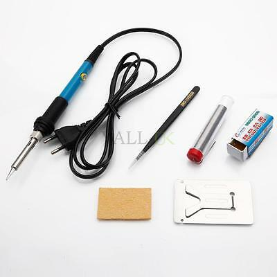 5in1 Electric Constant Temperature Rework Soldering Iron Station Kit 60W 230V