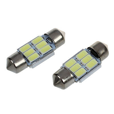 2x 31mm 6 5630 SMD LED Soffitte Sofitte Innenraumbeleuchtung 3W 195LM 6500 D7R7