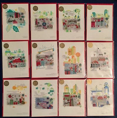 2016 Starbucks Holiday Special Edition City Card Selection- NYC SF SD OC DC LA +