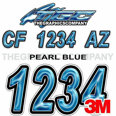 MESH METAL Custom Boat Registration Numbers Decals Vinyl Lettering Stickers USCG