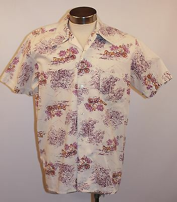 "Large Size 20, Mens  Short Sleeve Vintage Shirt.""sportsman""polyester / Cotton"