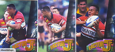 Jonah Lomu New Zealand Rugby Factor J Cards (3)