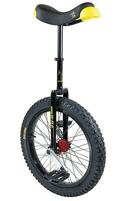 QU-AX Unicycle muni starter 20 black aluminum tyre black