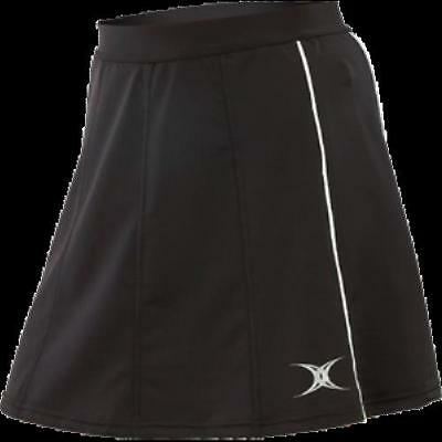 Gilbert Radius Netball Skirt, Black, 3 sizes available