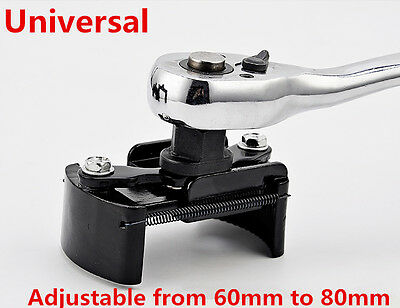 "Universal 60-80mm Adjustable Oil Filter Wrench Cup 1/2""Housing Car Remover Tool"