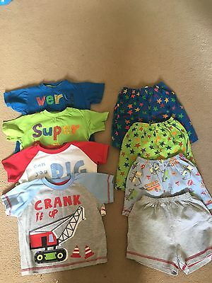 Boys Next And Other 4x pyjamas Summer shorts bundle 18-24 months 1.5-2 years