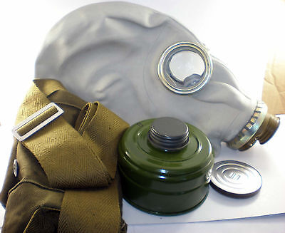 Size - 3. Soviet Russian Military Gas mask GP-5. Grey rubber. Full set. SALE