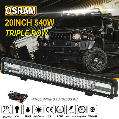 20Inch 540W OSRAM Led Light Bar Spot Flood Offroad Work Driving Lamp Truck 4WD