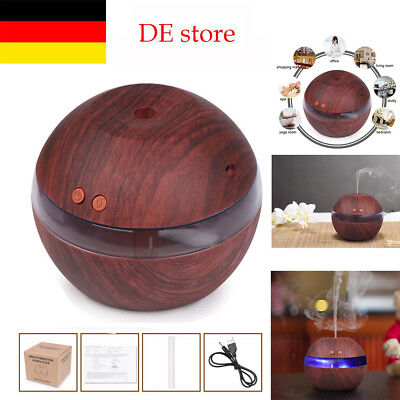 300ML Ultraschall Luftbefeuchter Duftöl Aroma Diffuser Humidifier LED DE STOCK