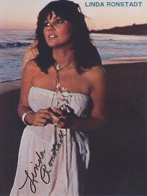 """Linda Ronstadt 2 (Nip Poke) """"Hasten Down The Wind"""" EXTREMELY RARE SIGNED RP 8x10"""
