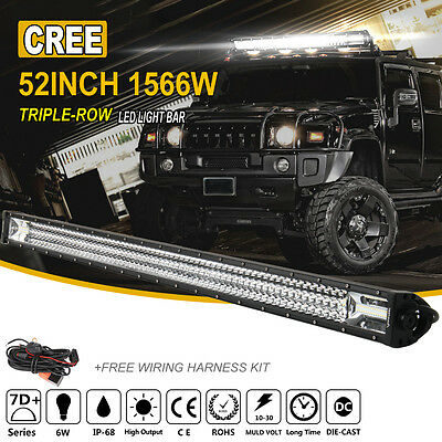 52Inch 1566W OSRAM Led Light Bar Spot Flood Offroad Work Driving Lamp Truck 4X4