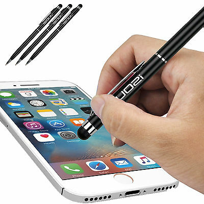 Stylus Pen 3-Pcs Metal 2in1 Universal Ball Pen Touch Screen Stylus for ipad ipod