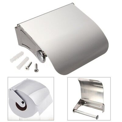 Bathroom Stainless Steel Wall Mounted Toilet Paper Roll Holder Tissue Rack Box