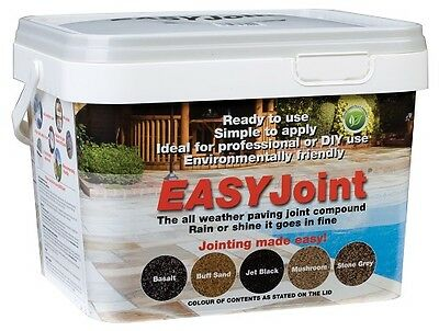 Stone Grey Paving Grout 12.5 Kg x 2 tubs Jointing compound, EASY Joint mortar