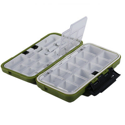 Fishing Box Lure Bait Hook Storage Case Tool Compartments Waterproof Tackle TO