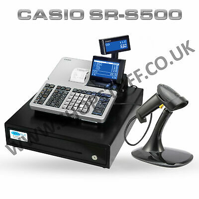 New Casio Se-S400 Ses400 Se S400 Cash Register Till + Barcode Scanner (Z4)