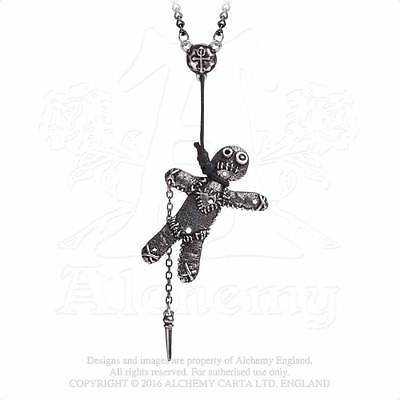 Alchemy Gothic Voodoo Doll Pendant Necklace - Goth,Hangman,Punk,Metal,Pewter,Jew