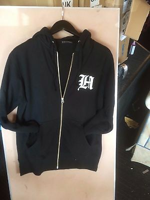 The hundreds skate black zip up hoodie small 755