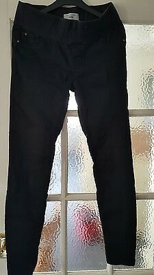 new look maternity black jeans size 10