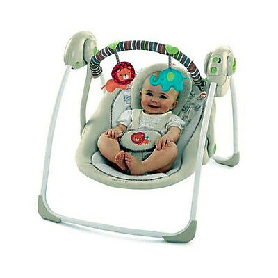 Baby Swing Portable Infant Cradle Rocker Seat Toddler Bouncer Chair Travel Folds