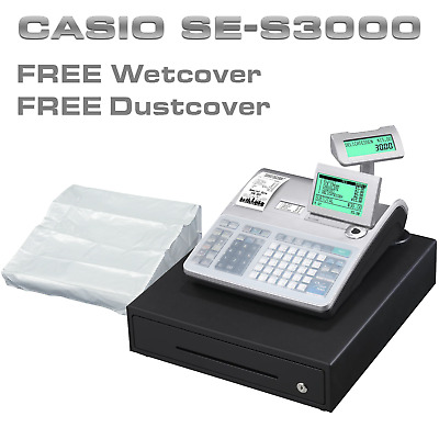 Casio Se-S3000 Cash Register + Free Keyboard Cover & Dust Cover