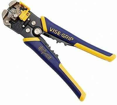 "IRWIN VISE-GRIP Self-Adjusting Wire Stripper/Crimper/Cutter 8"" 10-24 AWG 2078300"