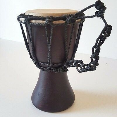 Djembe Drum Percussion Old Handicraft Characterized Instrument Entertain Decor