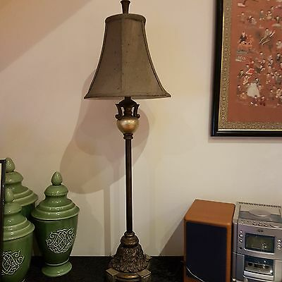 LAMPS set of two in antique silver colour