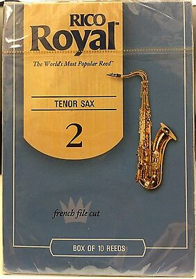 Rico Royal 2 Strength Reeds for Tenor Sax Pack of 10
