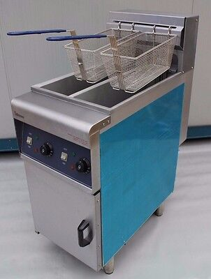 New Commercial Electric Fryer MASSIVE POWER 6kw x2 Double Tank-Twin Basket