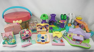 polly pocket bundle 10 × hat box, Winnie the pooh  Cases , Compacts . Houses