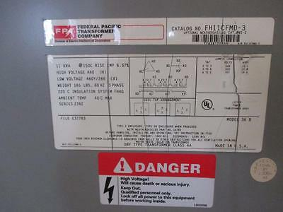 Federal Pacific FH11CFMD-3 11Kva 3Ph 460 X 460Y/266 Current Transformer