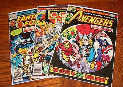 Vintage Set of Comic Books - Lot of 3 - Avengers, Logans Run, Fantastic Four