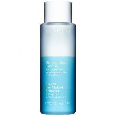 Clarins 125ml Instant Eye Make Up Remover (Waterproof & Heavy Make-Up) - NEW